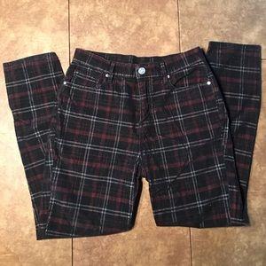 BDG Twig High Rise Black Plaid Corduroy Pants